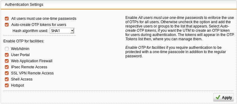 Sophos one time password – xinux wiki